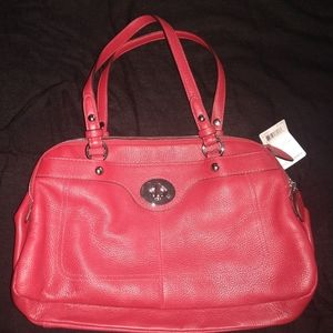 Stunning red coach purse NWT